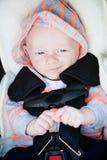 Glückliches Baby im Auto Seat Stockfoto