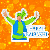 Glückliches Baisakhi Stockfotografie