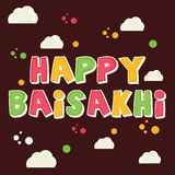 Glückliches Baisakhi Stockbild