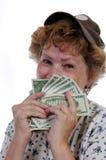 Glückliches Bargeld Stockfoto