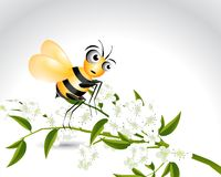 Glückliches Bienen-Zeichen Stockfotos