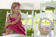 Glückliches Blumen-Mädchen Lizenzfreie Stockfotografie