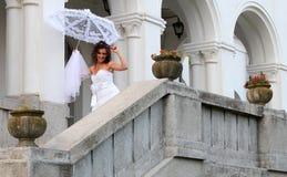 Glückliches Brautlächeln Stockfotografie
