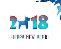 Glückliches chinesisches Kartenjahr des neuen Jahres 2018 des Hundes Stockbild