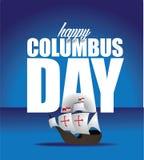 Glückliches Columbus Day Design Stockbilder