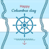 Glückliches Columbus-Tagesplakat Lizenzfreies Stockfoto