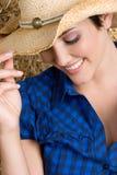 Glückliches Cowgirl stockfotografie