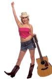 Glückliches Cowgirl Stockfoto