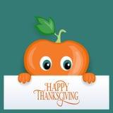 Glückliches Danksagungs-Tagesfirmenzeichen, -ausweis und -ikone Lizenzfreies Stockbild
