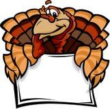 Glückliches die Danksagungs-Feiertags-Türkei-Holding-Zeichen Lizenzfreies Stockbild