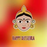 Glückliches Dussehra Karte mit Durga EPS10 Stockfotografie