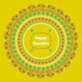 Glückliches Dussehra Paisley-Kreisrahmen im Feiertag Lizenzfreie Stockfotografie