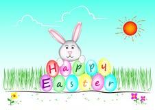 Glückliches Easter_Rabbit Stockbild