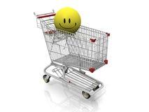 Glückliches Einkaufen vektor abbildung