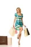 Glückliches Einkaufen Lizenzfreies Stockfoto