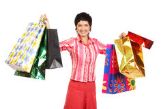 Glückliches Einkaufen Stockfotos