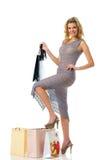 Glückliches Einkaufenmädchen Stockbilder