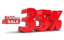 Glückliches Einkaufenmädchen auf weißem Hintergrund Rabatt 35 Prozent heruntergesetzt Stockbilder