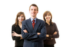 Glückliches erfolgreiches Geschäftsteam. Stockbilder