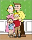 Glückliches Familien-Portrait Stockfotografie