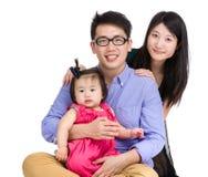 Glückliches Familien-Portrait Lizenzfreie Stockbilder