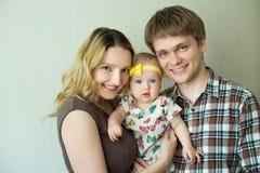 Glückliches Familien-Portrait Stockfoto