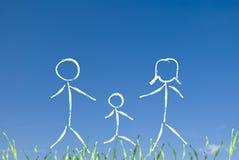 Glückliches Familienkonzept