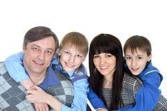 Glückliches Familienlächeln Stockfotos