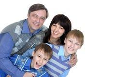 Glückliches Familienlächeln Lizenzfreies Stockfoto