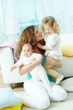 Glückliches Familienleben Stockfotografie