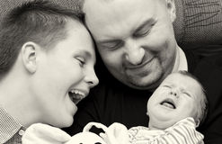 Glückliches Familienportrait   Lizenzfreies Stockbild