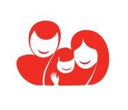 Glückliches Familienschattenbild lizenzfreie abbildung