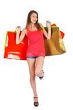 Glückliches Frauen-Einkaufen Stockfotografie