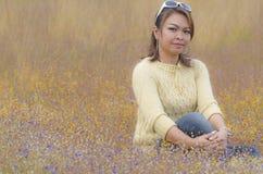 Glückliches Frauengenießen Lizenzfreie Stockfotografie