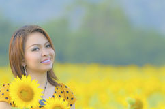 Glückliches Frauengenießen Lizenzfreie Stockbilder