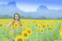 Glückliches Frauengenießen Lizenzfreies Stockfoto