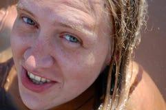 Glückliches Frauengesicht Lizenzfreie Stockbilder