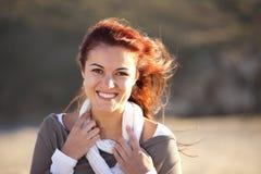 Glückliches Frauenlächeln Stockfotos