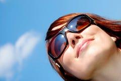 Glückliches Frauenlächeln Lizenzfreie Stockbilder