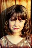 Glückliches frohes Gesicht des Schulkindes Stockfoto