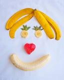 Glückliches Frucht-Gesicht Lizenzfreie Stockfotografie