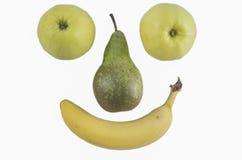 Glückliches Frucht-Gesicht Stockbilder