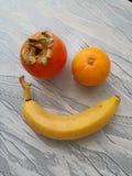 Glückliches Fruchtlächeln stockbild