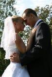 Glückliches geheiratet Stockbild