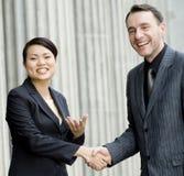 Glückliches Geschäfts-Abkommen Stockfoto