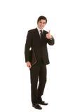 Glückliches Geschäftsmanngeben Daumen oben Lizenzfreies Stockfoto