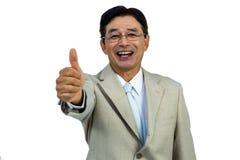 Glückliches Geschäftsmannlächeln Stockfotografie