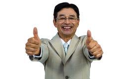 Glückliches Geschäftsmannlächeln Stockbild