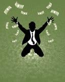 Glückliches Geschäftsmannschattenbild Lizenzfreie Stockfotos
