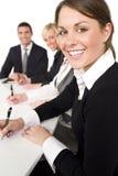 Glückliches Geschäftstreffen Lizenzfreie Stockbilder